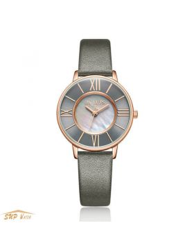 Women's Thin Leather Watch