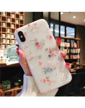 3D Relief Floral Soft Silicon iPhone Case - Colorful