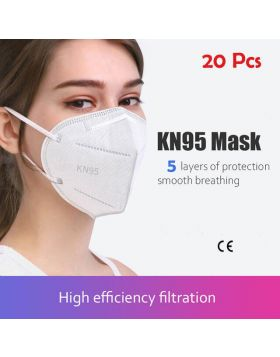 5-Layer KN95 Protective Face Mask - 20Pcs+