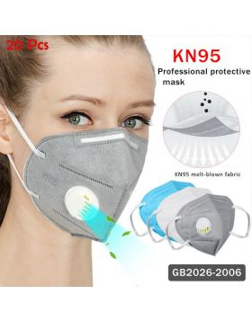 6-Layer KN95 Respirators Mask with Breathing Valve for Summer 20Pcs+