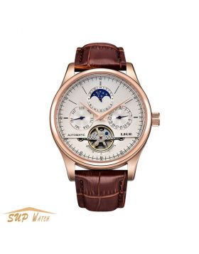 Men's Automatic Mechanical  Tourbillon Gold Watch