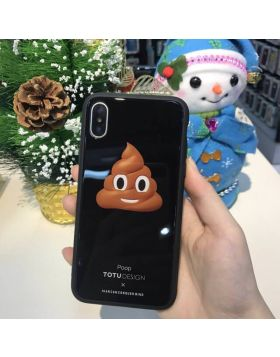 Animoji Style TPU & Tempered Glass Back Cover For iPhone X