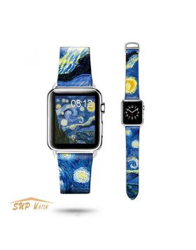 Art Design Leather Watch Band For Apple Watch Series 4 3 2 1