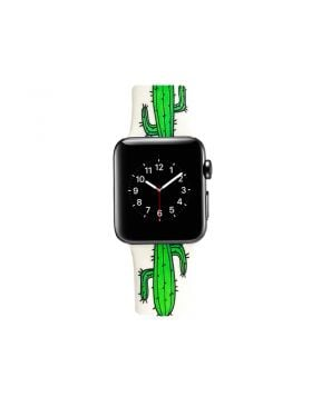 Cactus Print Apple Watch Silicone Sport Band Series 4 3 2 1