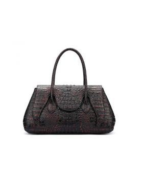 Classic Women Crocodile Style Genuine Leather Tote Bag