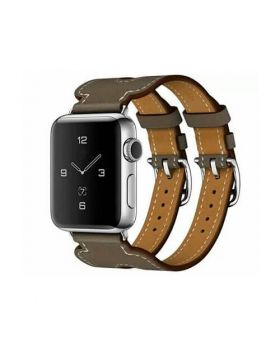 New Double Buckle Leather Bands For Apple Watch Series 5/4/3/2/1