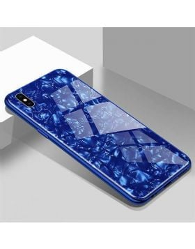 Explosion-Proof Tempered Glass Marble Pattern iPhone Protective Case