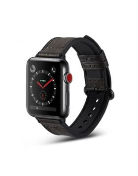 Genuine Leather+Silicone Sport Apple Watch Band