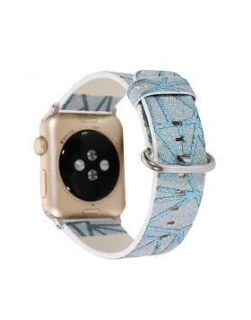Glitter Striped Leather Apple Watch Band Series 5/4/3/2/1