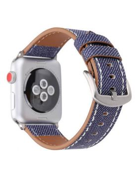 Jeans Style Leather Bands For Apple Watch 38mm/42mm/40mm/44mm