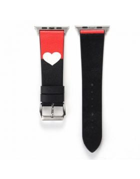 Love Heart Genuine Leather Bands For Apple Watch Series 5/4/3/2/1