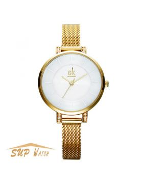 Luxury Women's Gold Simple Style Casual Wristwatch