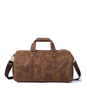 Men's Classic Leather Large-Capacity Duffel Bag