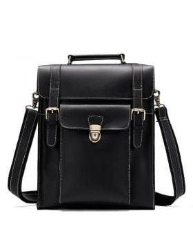 Men's Fashionable Multi-function Leather Laptop Backpack