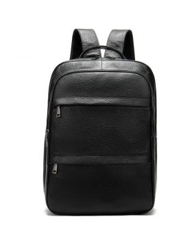 Men's Large Capacity Cowhide Laptop Backpack