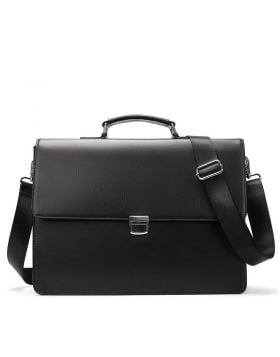 Men's Minimalist Leather Business Briefcase
