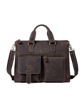 Men's Vintage Leather Business Laptop Briefcase