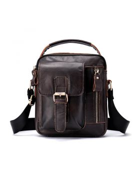 Men's Vintage Leather Large Capacity Messenger Bag