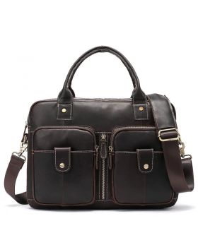 Men's Vintage Locomotive Leather Briefcase Bag