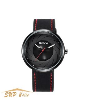 Men's Galaxy Series Casual Leather Strap Watch