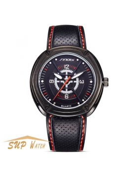 Men's Sports Leather Strap Wristwatch