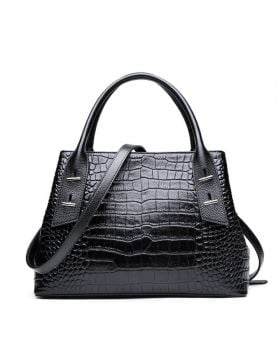 New Women Crocodile Genuine Leather Tote Handbag
