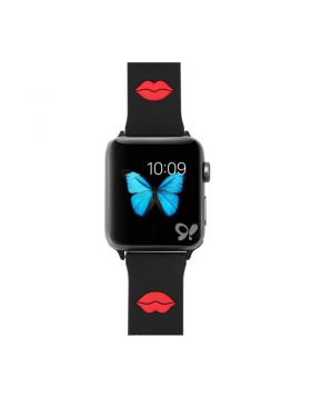Red Lip Print Apple Watch Silicone Sport Band Series 5 4 3 2 1
