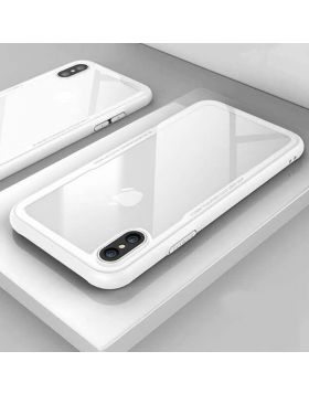 Tempered Glass Clear iPhone Protective Case