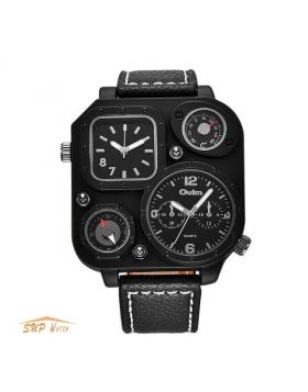 Unique Black Men's Sport Quartz Watch