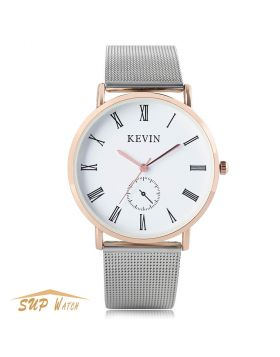 Unique Men's Mesh Stainless Steel Band Wrist Watch