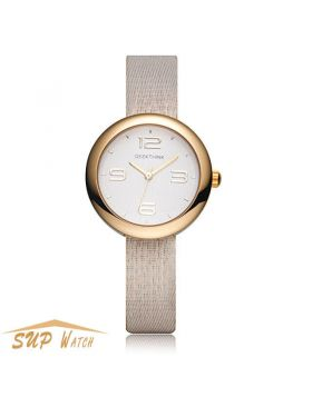 Unique Women's Dress Leather Strap Wristwatch