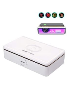 UV Light Cell Phone Sterilizer Box with Wireless Charger and Aromatherapy Function