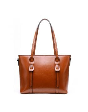 Women Classic Genuine Leather Tote Handbag