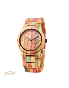 Women Colorful Wooden Wristwatch