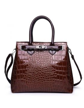 Women Crocodile Genuine Leather Tote Bag