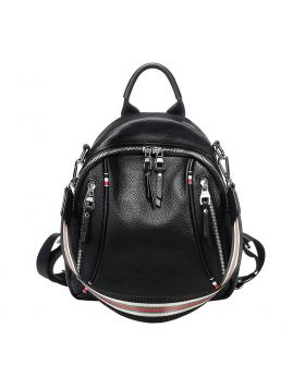 Women's Casual Soft Leather Large Capacity Backpack