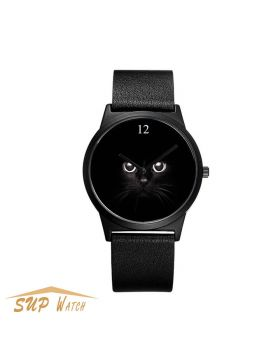 Women's Lovely Cat Character Wrist Watch