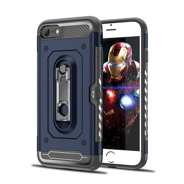 3 In 1 Design Hybrid Heavy Duty Armor Tpu Plastic Phones Case For Iphone With Card