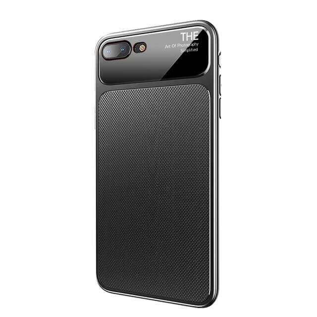 brand new 7752a 0b079 Creative 9H Tempered Glass + Silicone Hybrid Case For iPhone 8 Plus/7 Plus  & iPhone 8/7