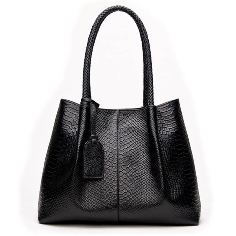 8a7cd2e94 Women's Snake Knitted Leather Tote Handbag