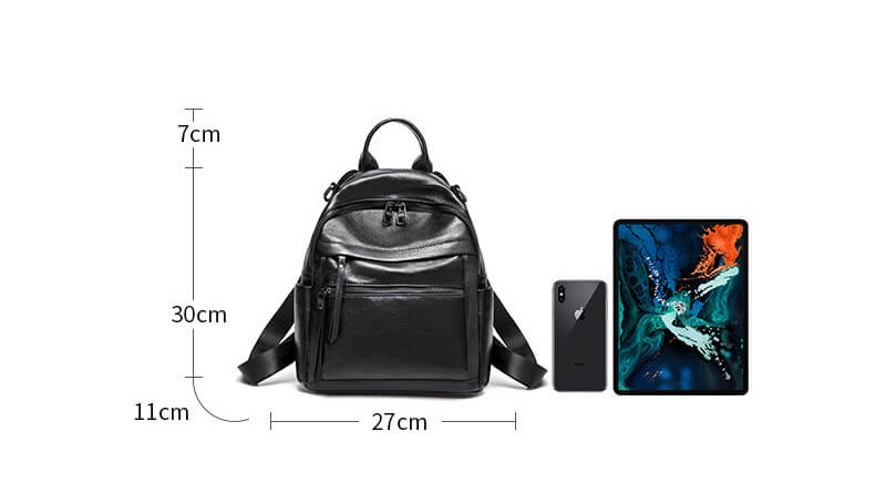 Women's Simple Fashion Leather Backpack