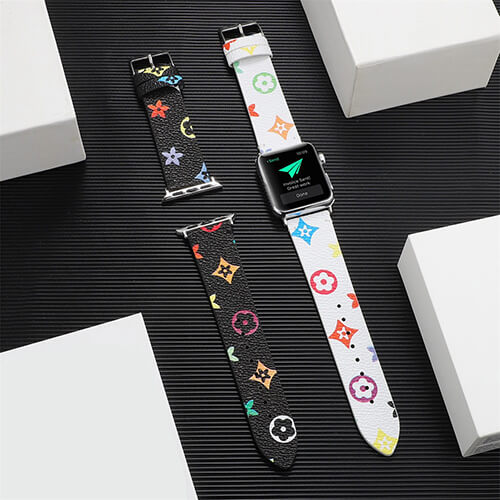 Tide Brand Printed Leather Band for Apple Watch