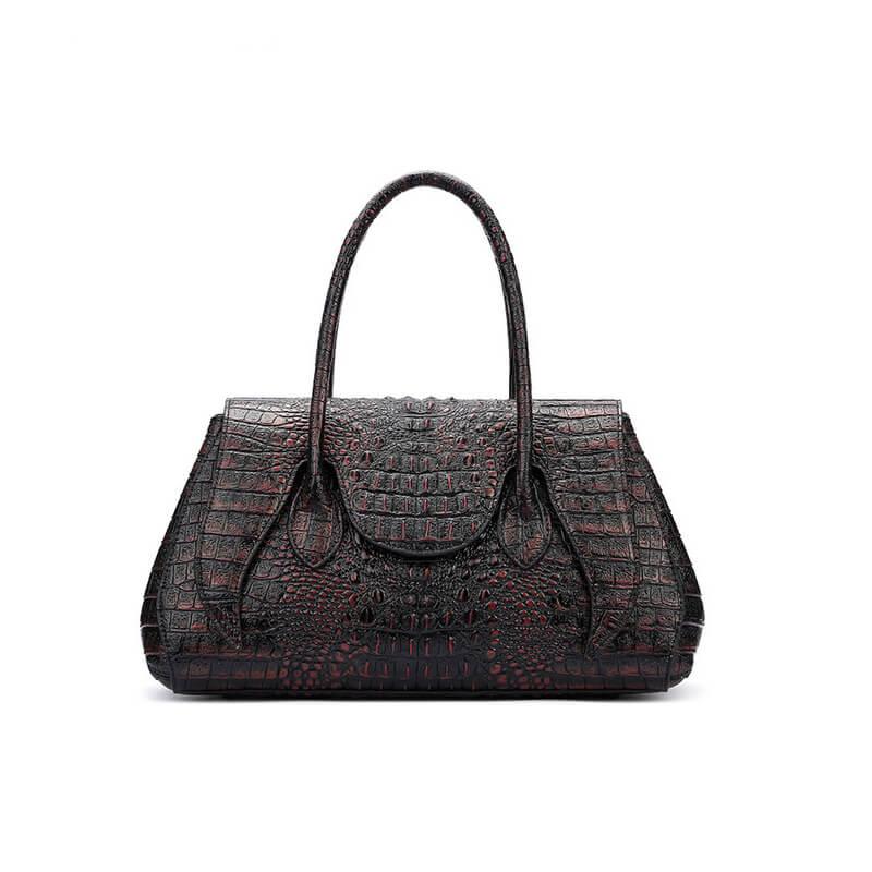Classic Women Crocodile Style Genuine Leather Tote Bag