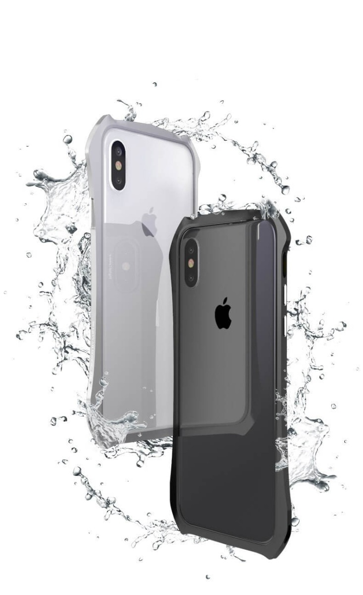 Cool Aluminum Metal Bumper Case For iphone X