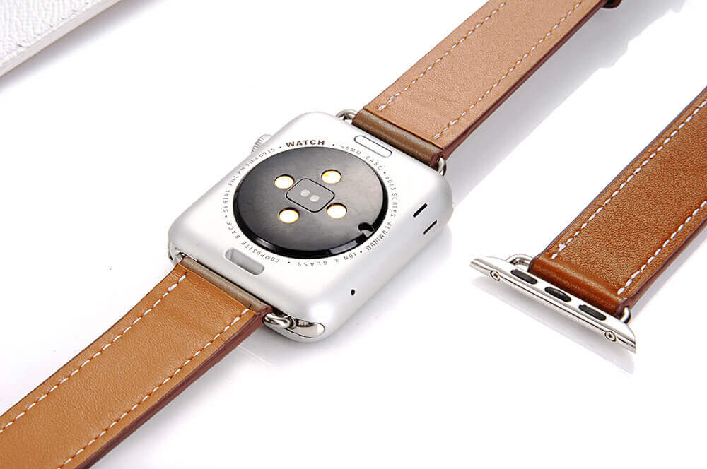 Double Tour Leather Watch Band for Apple Watch Series 4/3/2/1