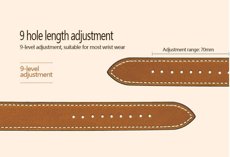 Extra Long Double Tour Leather Watch Band For Apple Watch 38mm/42mm/40mm/44mm