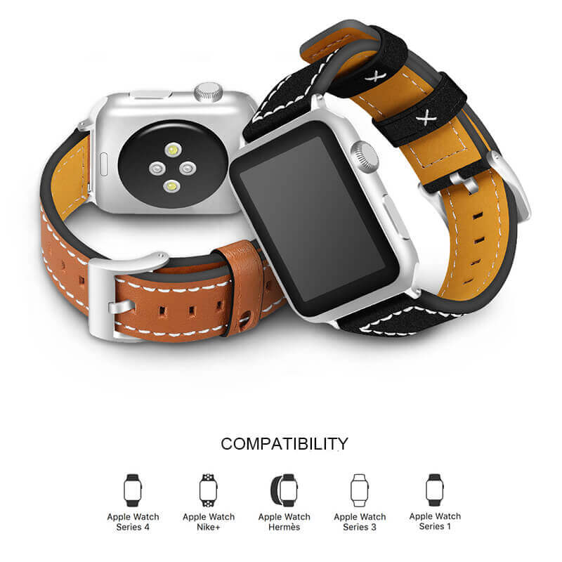 Fresh Style Apple Watch Leather Band Series 4 3 2 1