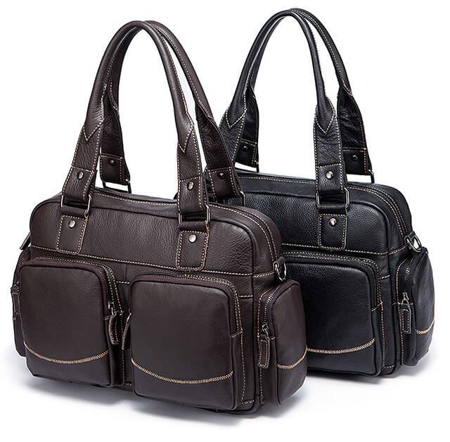 Men's Casual Style Leather Briefcase