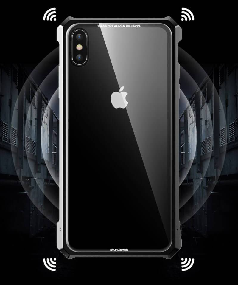 Metal Bumper Clear Tempered Glass Case For iPhone Xs Max & Xs & X & XR