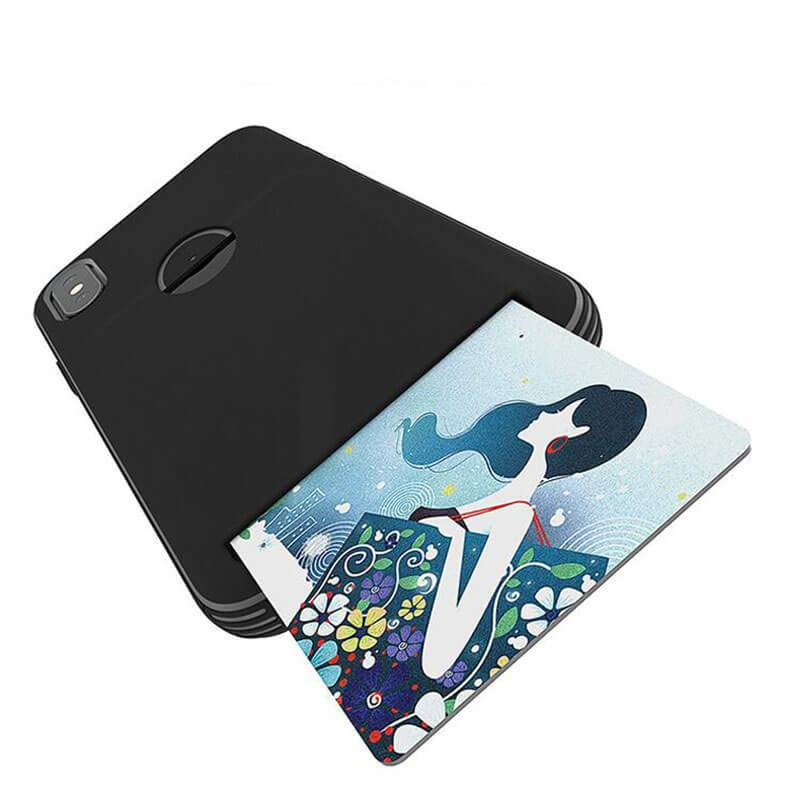 Multicolor Soft TPU iPhone Case With Card Holder